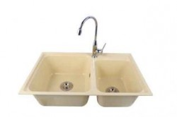 Double bowl sink (Beige)