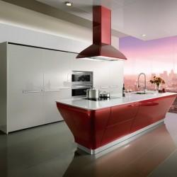 OP12-L062: Intelligent Lacquer Kitchen Cabinet
