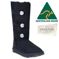 Swarovski Crystal Tall Button UGG Boots