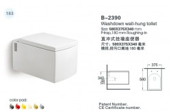 Washdown Wall-Hung Toilet – B-2390