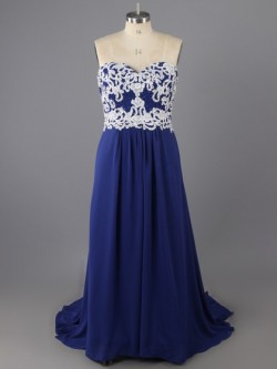 Plus size prom dresses from LandyBridal, Prom Gowns for Full Figured.