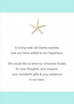 Starfish Beach Teal Bridal Shower Invitations HPB275 [HPB275]