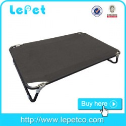 Metal elevated dog cot bed replaceable fabric Factory wholesale for camping travelling