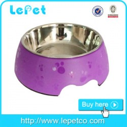 Eco-friendly durable stainless steel melamine elevated dog food bowls