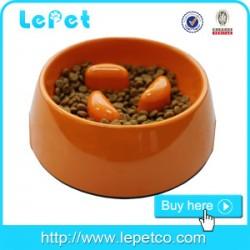 Custom logo Melamine slow Feeding cat dog bowl