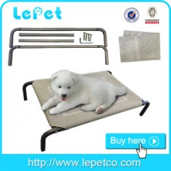 outdoor elevated dog camping cot metal frame pet bed