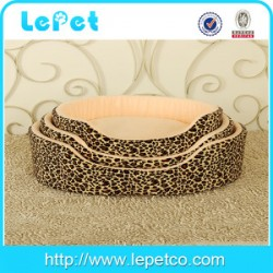 Christmas sales Leopard print warm cozy luxury fuzzy pet bed fleece pet bed