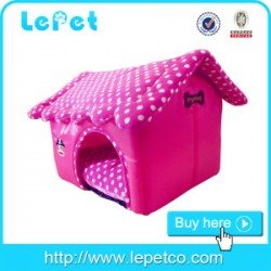 Factory wholesale novelty indoor pink princess dog pet house