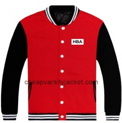 New Cotton HBA Printed Baseball Jacket Red With Black Sleeves [Varsity Jacket Unisex] – $1 ...