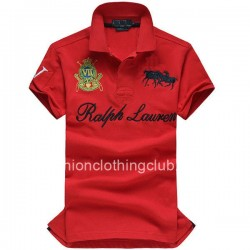 Ralph Lauren Mens Dual Match Crest Red Polo Shirt [Ralph Lauren Polo Shirt] – $55.00 : T s ...