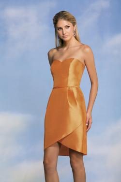 US$135.99 2015 Zipper Up Sweetheart Sleeveless Satin Yellow Short
