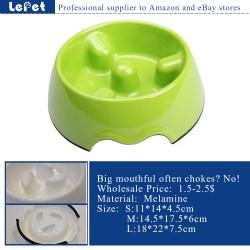 Slow feed dog bowl melamine pet feeder dog bowl manufacturer wholesale