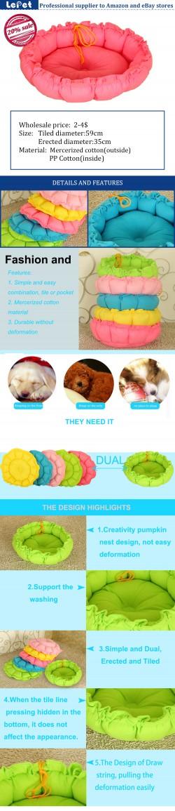 Double-use cheap pet cushion cozy princess dog bed mat