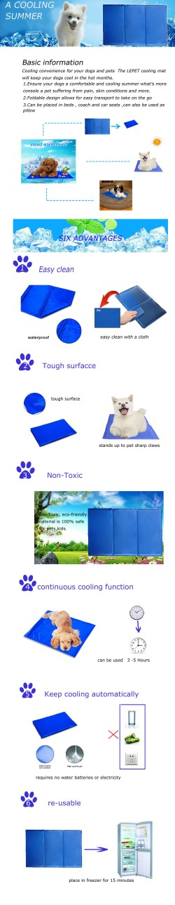 wholesale supplier dog gel cooling pad cooling mat for pets
