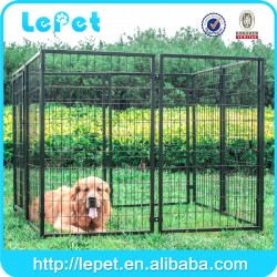 Large outdoor heavy-duty metal dog kennel wholesale