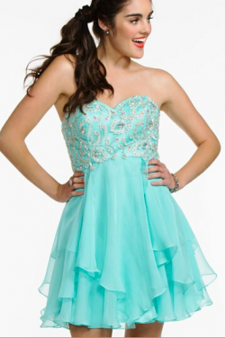 US$143.99 2016 Pink Ruched Blue Short Length Crystals Sweetheart Lace Up Chiffon Sleeveless