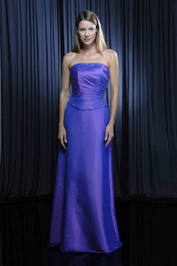 US$158.99 2015 Blue Strapless Beading Sleeveless Ruched Floor Length