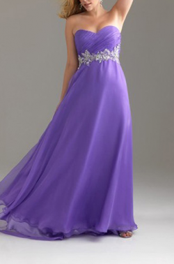 US$160.99 2015 Sweetheart Purple Fuchsia A-line Zipper Chiffon Floor Length Sleeveless Ruched