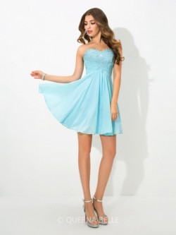 A-Line/Princess Sweetheart Sleeveless Short/Mini Beading Chiffon Cocktail Dresses – Short  ...