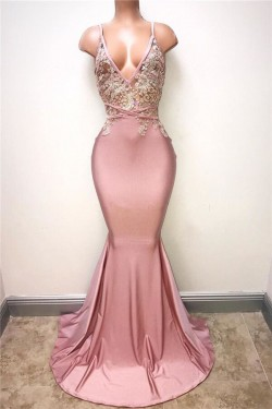 2017 Lace-Appliques Sexy Sleeveless Mermaid Spaghettis-Strap Evening Gowns_Evening Dresses 2017_ ...