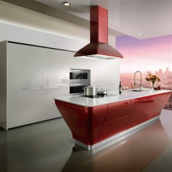 OP12-L062: Intelligent Lacquer Kitchen Cabinet