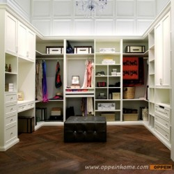 YG91519: Contemporary White Lacquer Walk-in Wardrobe