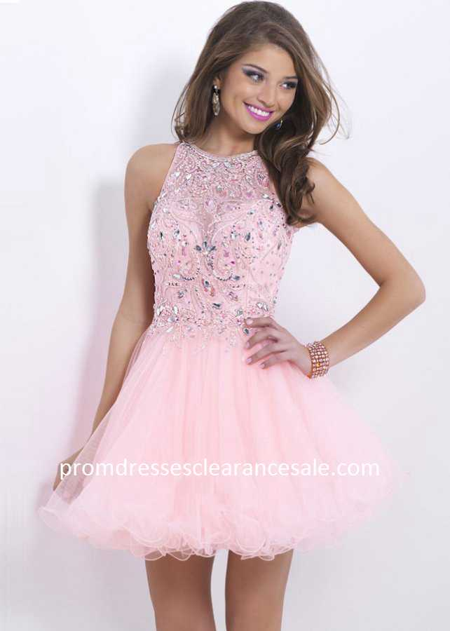 Pink Beaded Sheer Halter Neck Keyhole Back Homecoming Dress 2015 Cheap Sale v8f73G