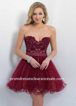 2015 Sangria Sweetheart Lace Embroidered Bodice Layered Party Dress Wholesale Online M1bfDw