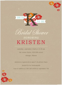 Vigorous Bloom Bridal Shower Invitation Card HPB156 [HPB156]