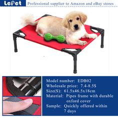 elevated dog bed,raised dog bed,Elevated Pet Dog camping cot wholesale supplier manufacturer china