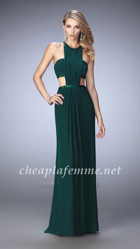 Forest Green Natural Fashion Style Long Prom Dresses by La Femme 22292 [La Femme 22292] –  ...