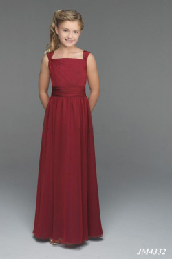 US$99.99 2015 Buttons Burgundy Sleeveless Chiffon Straps Ruched Floor Length