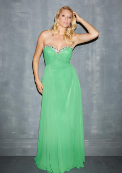 US$172.99 2015 Sweetheart Pink Zipper Chiffon Sleeveless Green Sweep Crystals Ruched A-line
