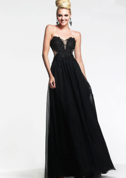 US$145.99 2015 Zipper Sweetheart Beading Chiffon Black Ruched Floor Length