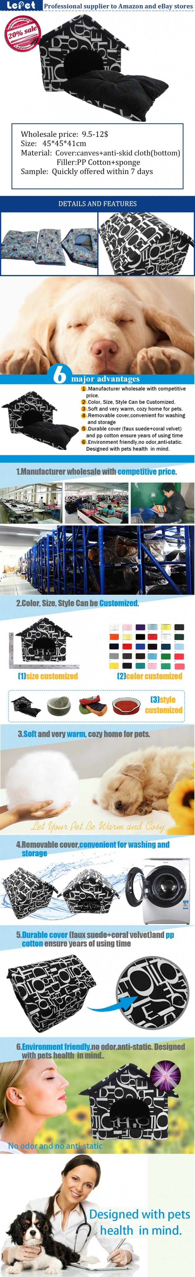 Cat house cat cave fabric dog house pet cave pet accessories wholesale china
