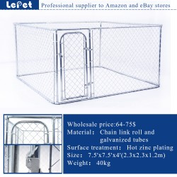 Hot sale large outdoor metal chain link dog cage