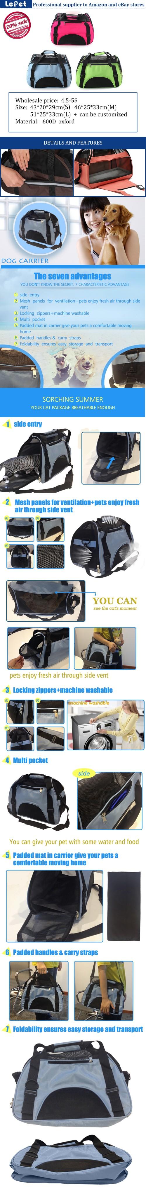 Pet accessories wholesale china cat carrier/cat cage pet bag/pet carrier airline/soft pet crate