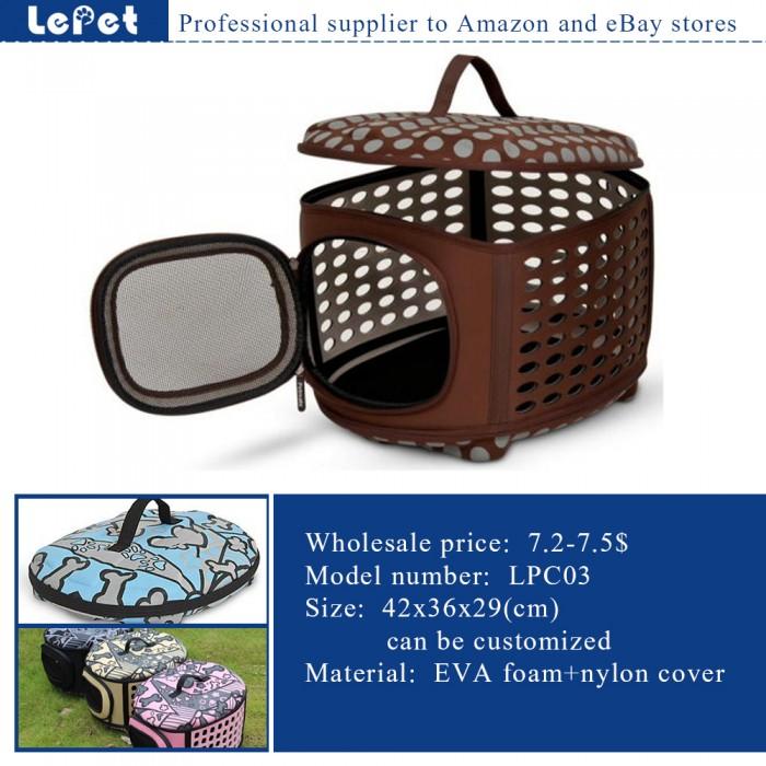 Comfort travel EVA foam Soft Portable Dog Carrier Pet Travel Bag