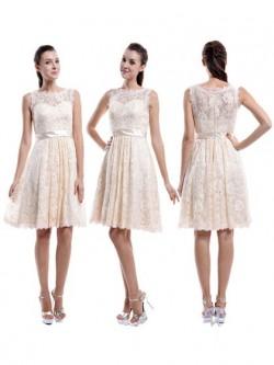 Champagne Coloured Bridesmaid Dresses UK | Dressfashion