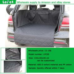 Best selling on amazon store manufacturer wholesale pet cargo cover for SUV Dog Cargo Liner