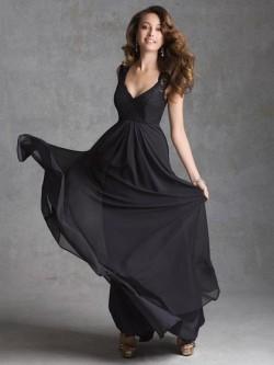 Long or Short Black Bridesmaid dresses UK by Dressfashion.co.uk