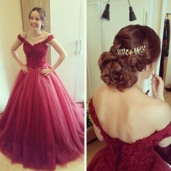 Tulle Prom Dresses UK in White, Pink and more, DressFashion