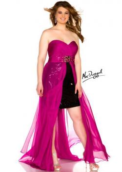US$158.99 2015 Chiffon Sweetheart Crystals Black Magenta Zipper Sleeveless High Low