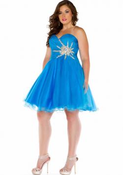 US$155.99 2015 Sleeveless Ocean Blue Fuchsia Sweetheart Crystals Lace Up Short Length