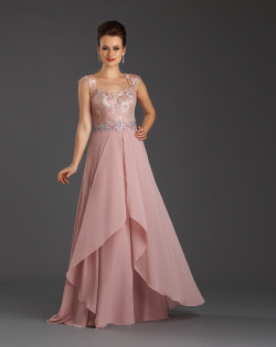 US$143.99 2015 Straps Cap Sleeves Buttons Ruched Appliques Crystals Chiffon Tulle Floor Length