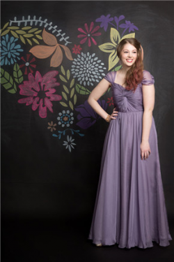 US$141.99 2016 Zipper Ruched Floor Length Purple Cap Sleeves Sweetheart A-line Chiffon
