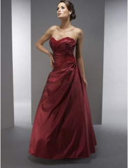 US$145.99 2015 Zipper Sweetheart Sleeveless Satin Appliques Burgundy Floor Length