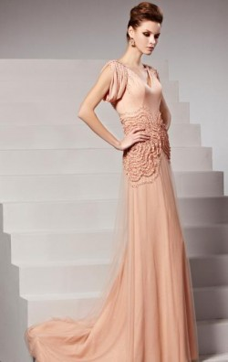 Online Long Pink In Stock Evening Prom Dress (LFYAK0244) cheap online-MarieProm UK