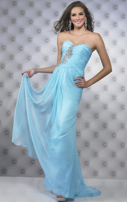 Amazing Long Light Sky Blue Tailor Made Evening Prom Dress (LFNAE0126) cheap online-MarieProm UK