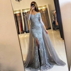 Long-Sleeve Lace-Appliques Front-Split Sweetheart Mermaid Newest Prom Dress_Prom Dresses 2017_Pr ...
